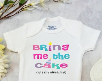 First Birthday BOY Or GIRL OnesiesR Brand CartersR Bodysuit Shirt Cake Smash Outfit Big One Bring Me The