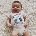 First Father's Day Onesies® Brand or Carter's® Bodysuit Pregnancy Announcement Custom Gift for Dad Beer Shirt Happy First Father's Day Gift