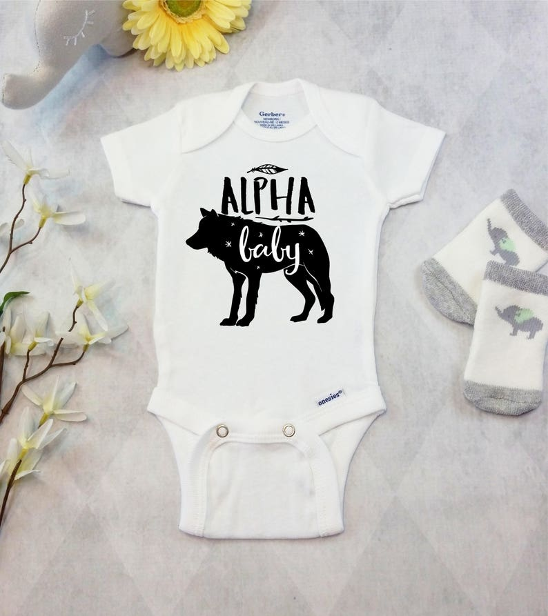5b1017df0 Wolf Onesies® Brand or Carter's® Bodysuit Baby Wolf Outfit | Etsy