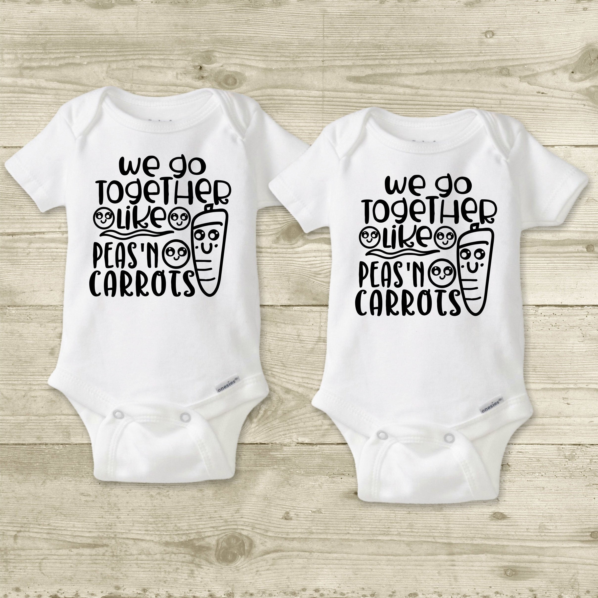 ead9c71f8551 Funny Twin Onesies® or Carter's® Brand Food Baby Clothes | Etsy