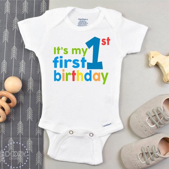 Personalised First Birthday Onesie