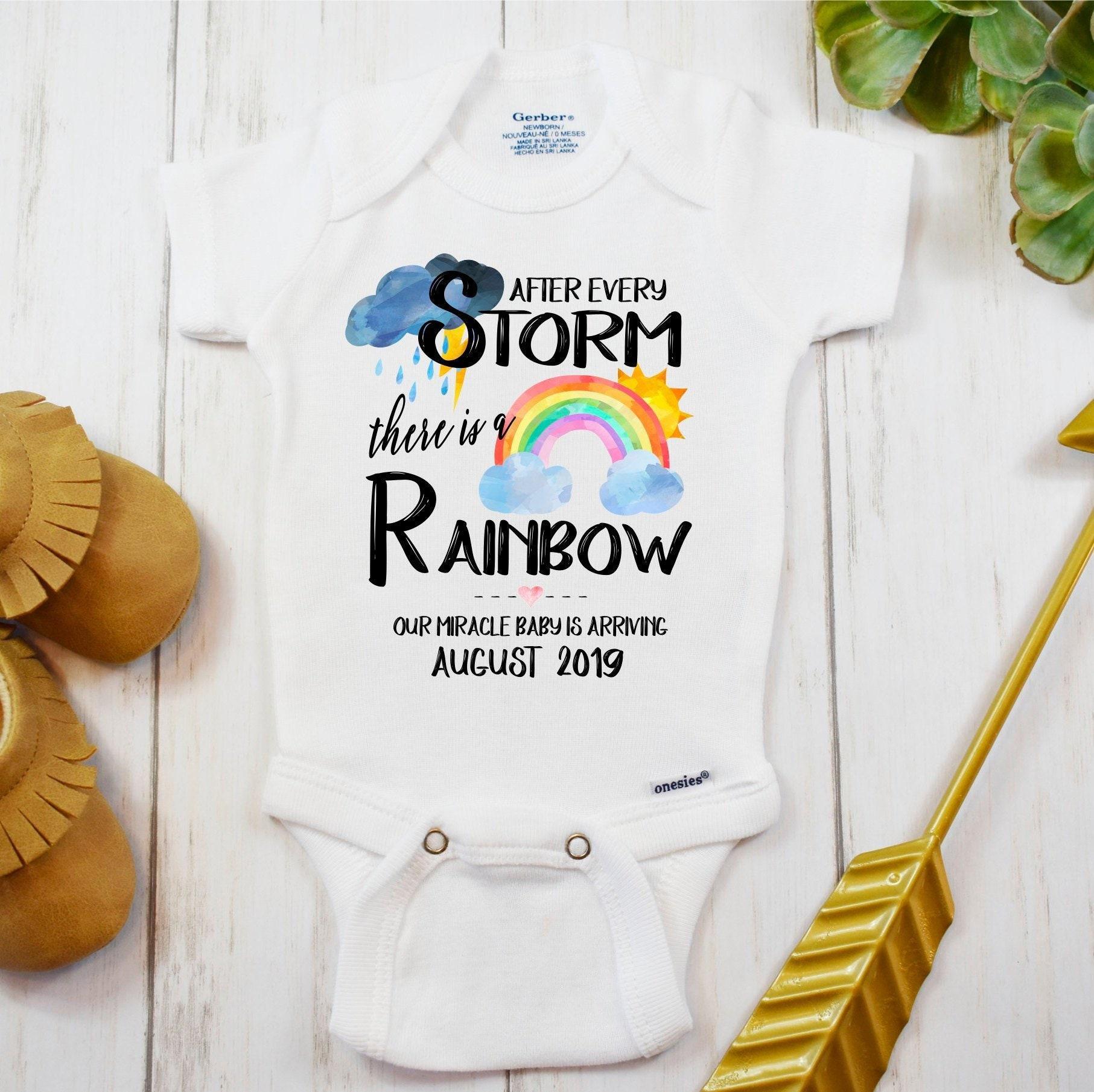 3c94b4b530 Rainbow Baby Onesie® IVF Miracle Baby Personalized Custom
