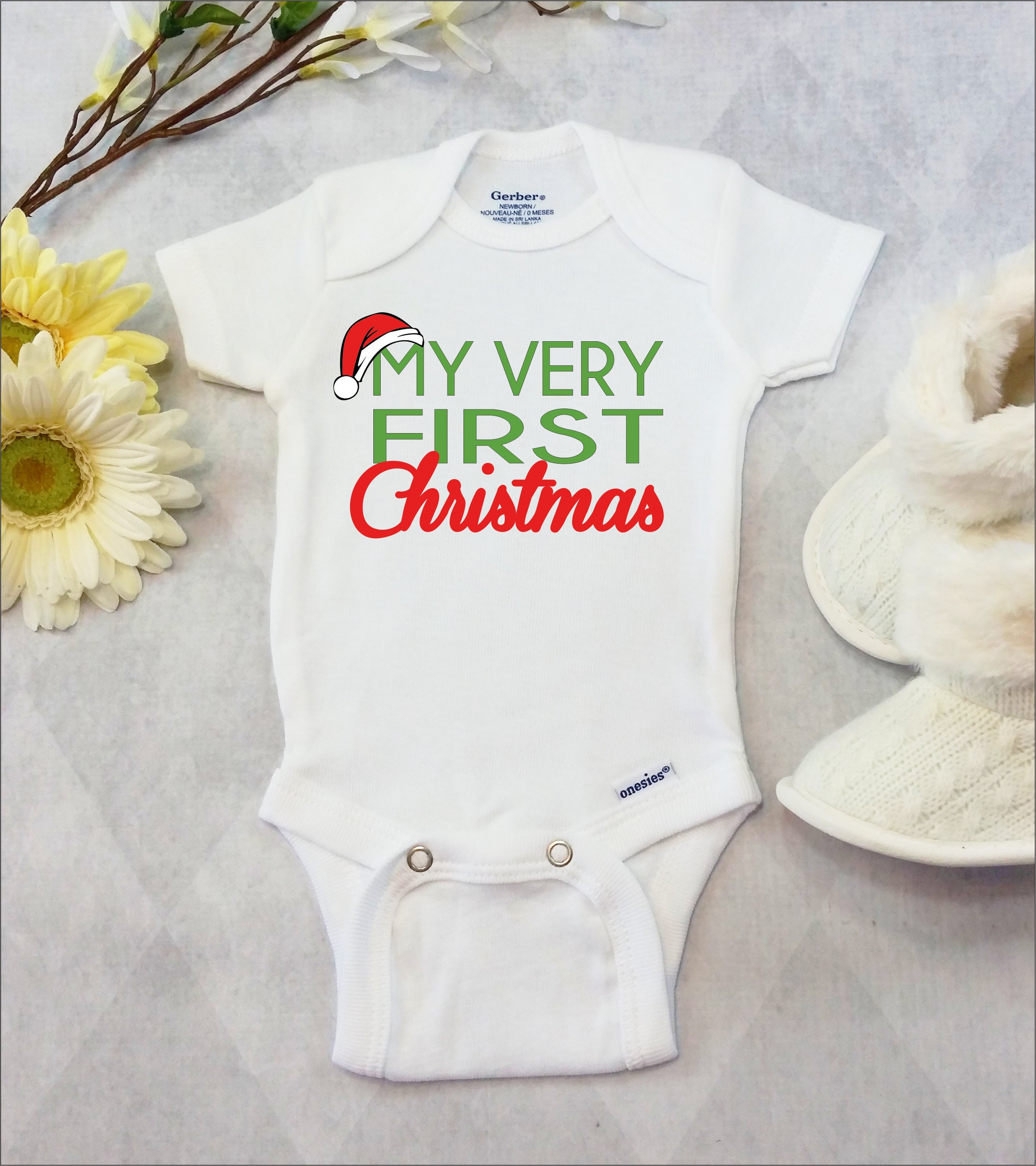 c9159c43f My First Christmas Onesies® Brand or Carter's® Bodysuit | Etsy
