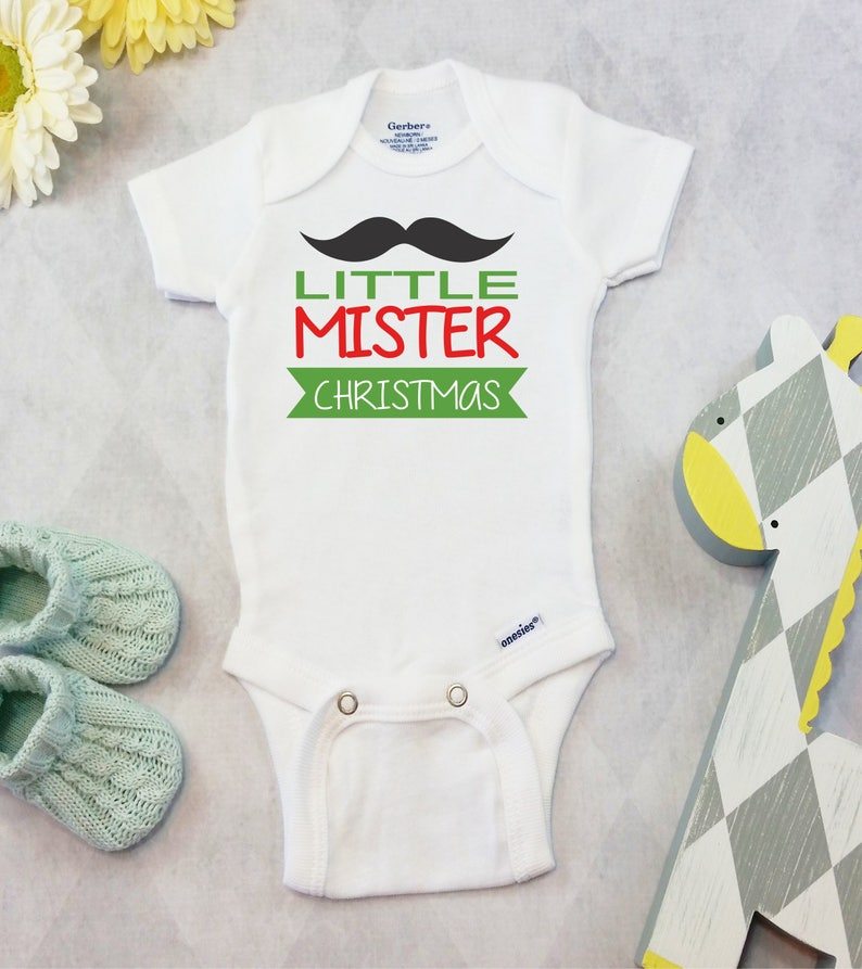4af9456c6243 Christmas Baby Boy Onesies® Brand or Carter's® Bodysuit | Etsy