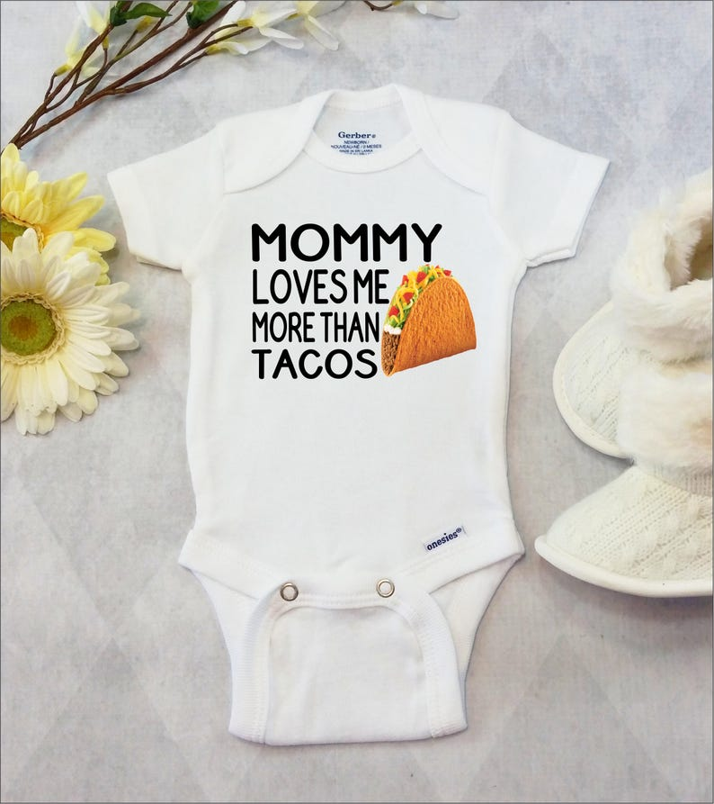 fd655ffc Taco Onesies® Brand or Carter's® Bodysuit Funny Baby | Etsy