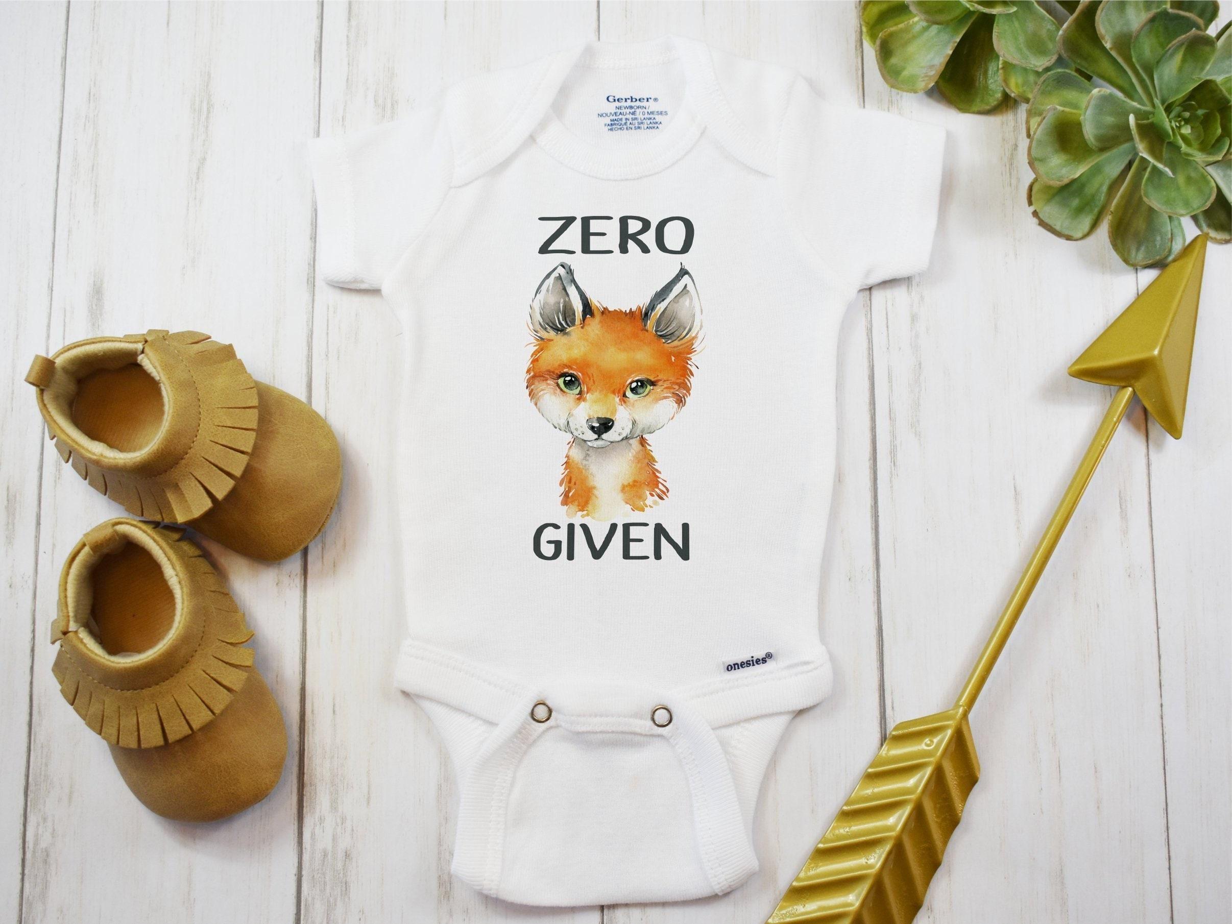 c3ad412cf Fox Onesie® or T-Shirt Zero Fox Given Funny Baby Shirts   Etsy