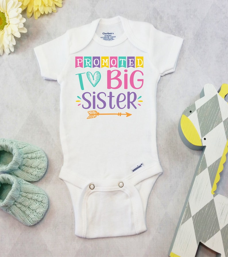 162029e75 Promoted to Big Sister Onesies® or Carter's Bodysuit | Etsy