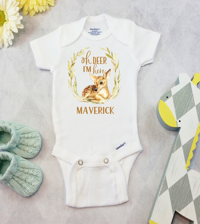 61879c78d85a Personalized Baby Name Onesies® Brand or Carter's® | Etsy