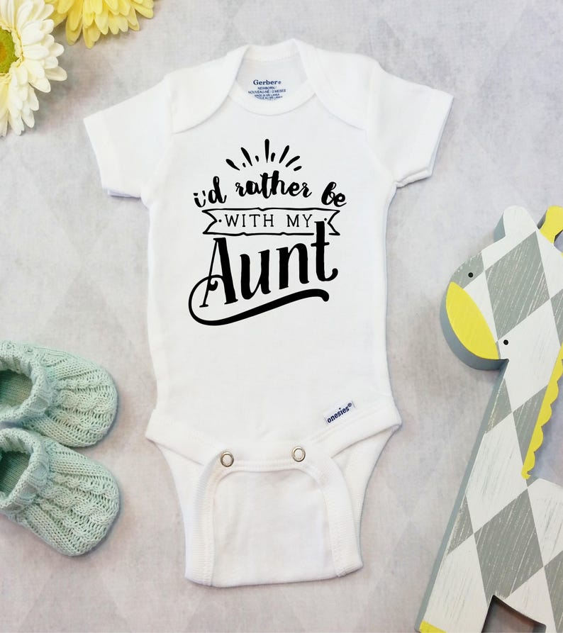 044040bad3783 Aunt Onesies® Brand or Carter's® Bodysuit Funny Aunt Auntie Baby Clothes  for Boy or Girl Toddler Outfits Baby Shower Gift for Niece Nephew