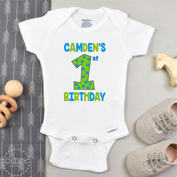 Cake Smash Outfit First Birthday Onesie Personalized Baby Onesie Shark Onesie 1st birthday outfit Custom First Birthday Bodysuit
