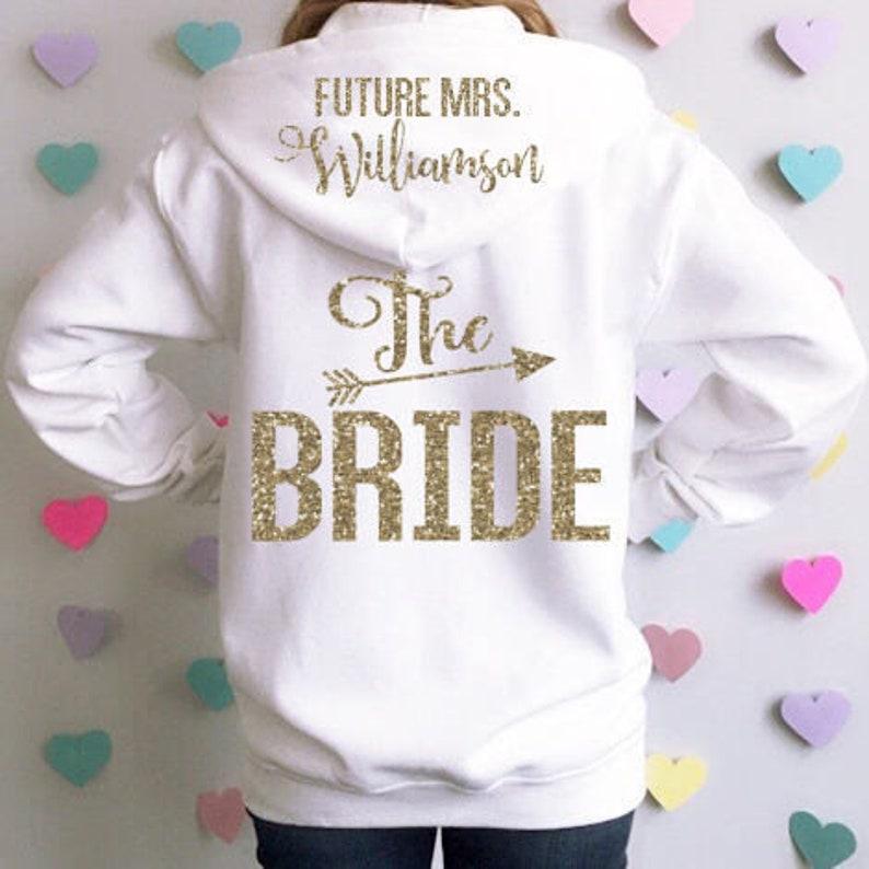 d7984251b Bride Hoodie Jacket. Future Mrs Hoodie. Bridal Sweatshirt. | Etsy