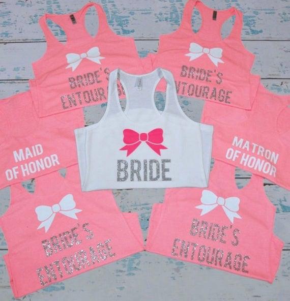 6916fc3bb Bridesmaids Tanks 7. Bridesmaids Shirts. Bachelorette Tanks. | Etsy