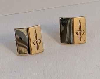 Ted Baker Archive Oval Fleur-de-lis Patterned Cufflinks Vintage Men/'s Jewelry