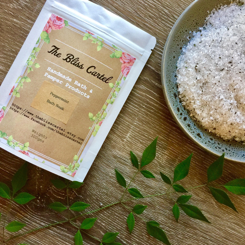 Peppermint foot soak bath salt bath soak bath salt favors   Etsy