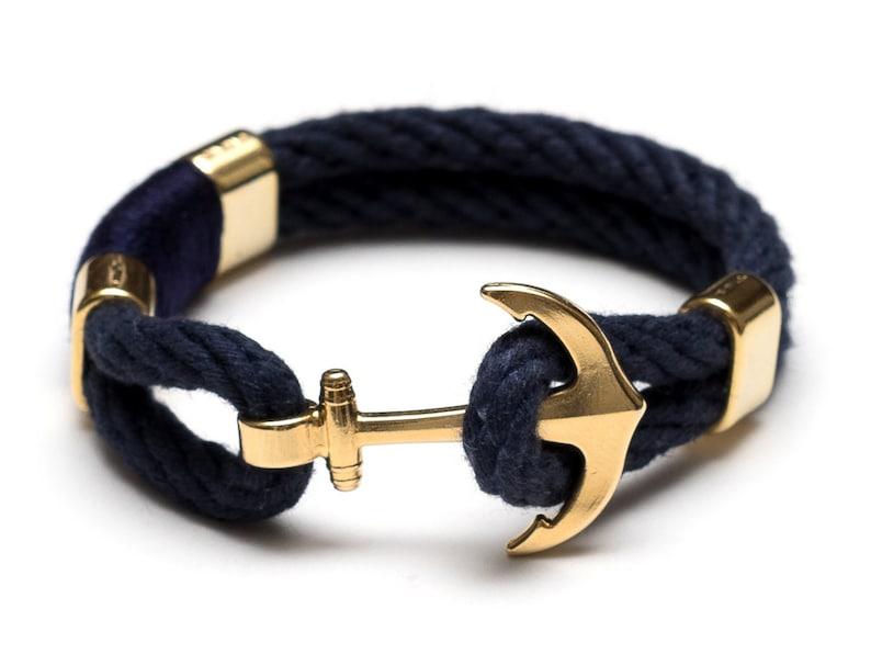 65f63d2440b6 Pulsera cuerda Náutica   Náutica ancla pulsera   azul marino