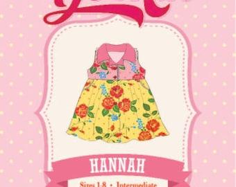 Sewing Pattern, Toddler, Girls Dress, pdf dress pattern Collar, Button Front, sz 1-8