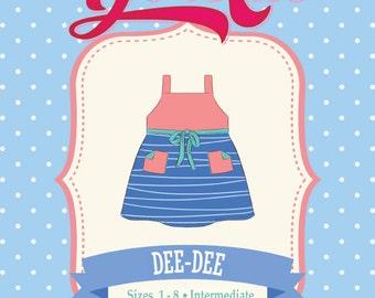 Girls Toddler Retro Top Dress PDF Sewing Pattern: Sizes 1 to 8