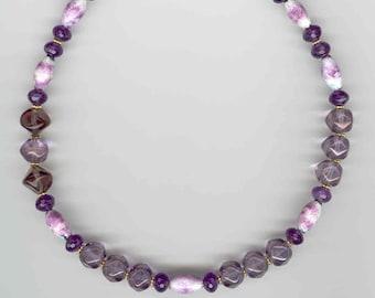 Volcanic Ash Choker, Amethyst Choker, Volcanic Ash Necklace, Volcanic Ash Beads, Artisan Necklace, Mt St Helen's, Artisan Jewelry, Valentine