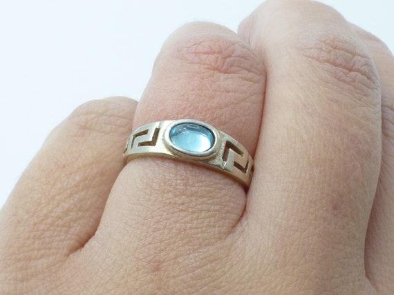 Bold Beautiful Jerusalem Multi Color Topaz Gemstone Brass Sterling Silver Vintage Ring