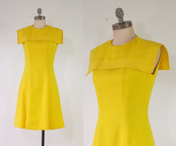 vintage yellow dress | vintage 1960s yellow sailor