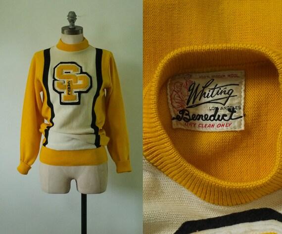 vintage varsity sweater | vintage 1950s college sw