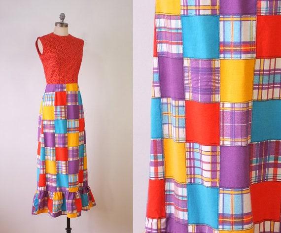 vintage patchwork dress | long vintage dress | vin