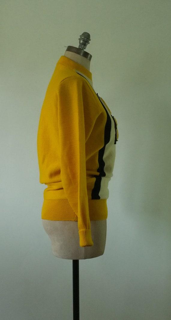 vintage varsity sweater | vintage 1950s college s… - image 4