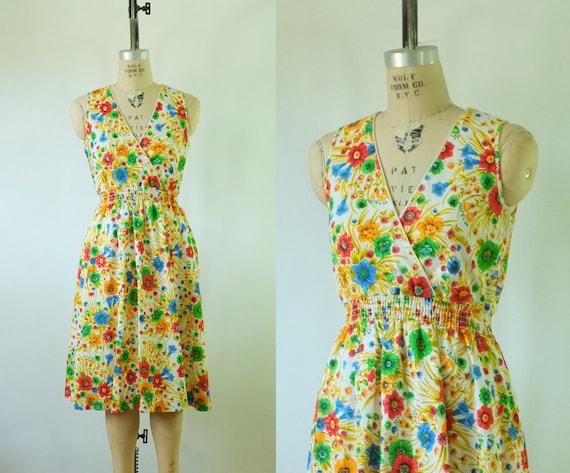vintage floral dress | vintage 1970s floral sundre