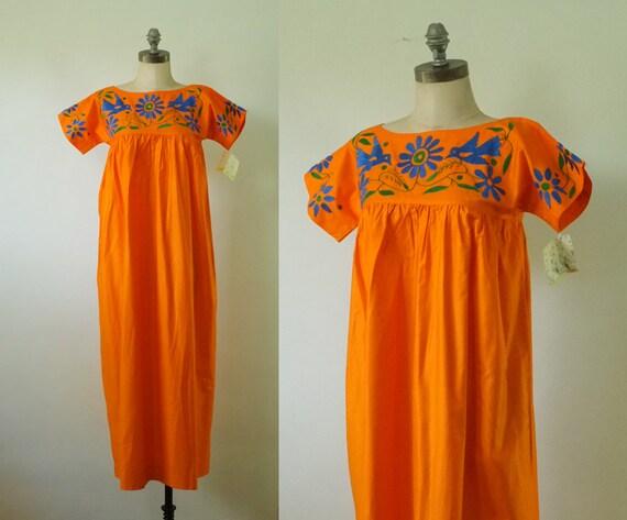 vintage Oaxacan dress | vintage 1960s embroidered