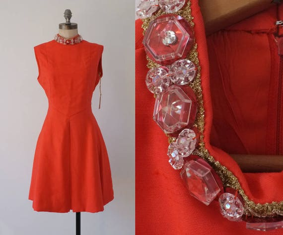 Trouvaille dress  | vintage 60s orange dress | jew
