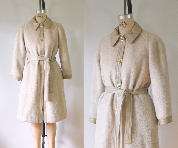 vintage Bonnie Cashin coat | vintage 1960s mohair