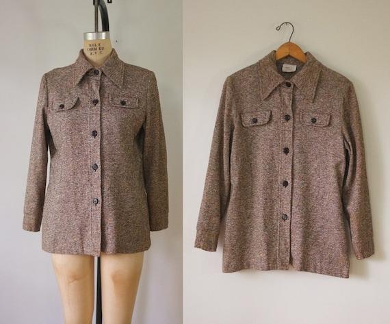 vintage 1970s shirt jacket | vintage lightweight … - image 1