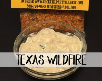 Texas Wild Fire DIP| Seasonings| All Natural| No MSG| Gluten Free| Organic| Herbs| Hostess Gift| Snack Food| Party Dip| Chip Dip| Spices
