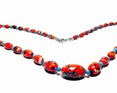Art Deco Necklace - Glass Bead