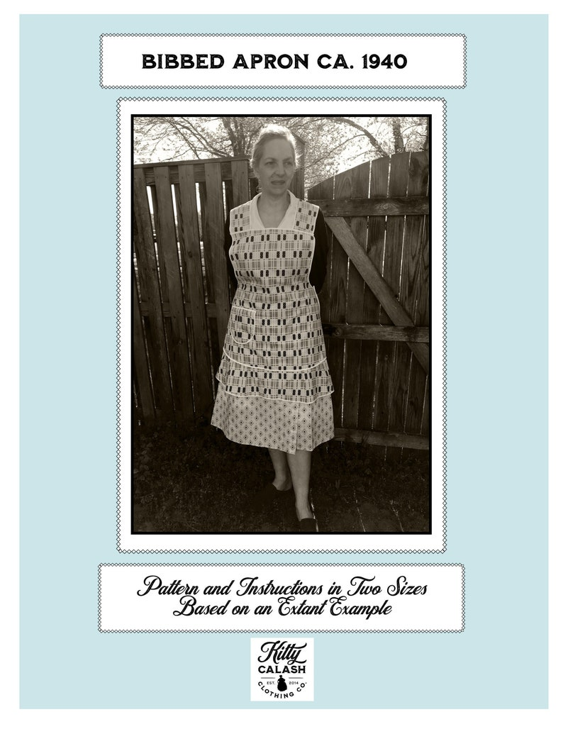 Download: Bibbed Apron ca 1940 Pattern and Instructions image 0