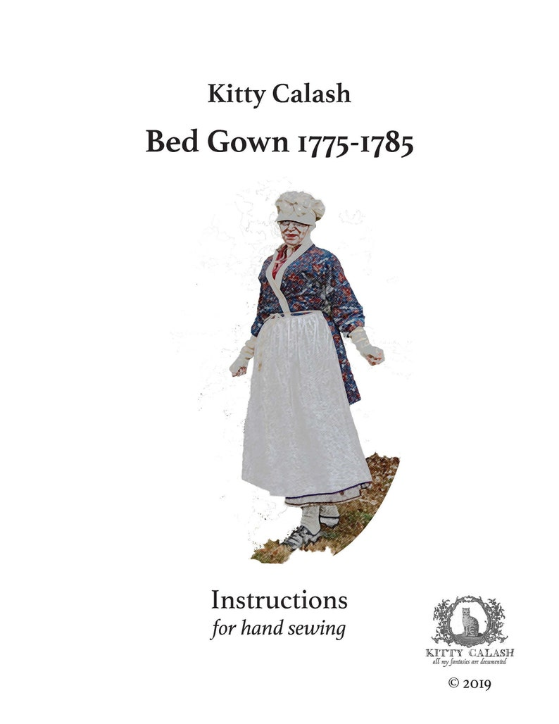 Lined Bed Gown Pattern 1775-1785 image 0
