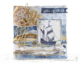 Sea Memories Card, Birthday Card, Cards, Birthday, Handmade Card, Homemade Card, Card for Dad, Son