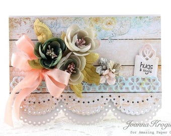 Hugs and Kisses, Happy Birthday, Birthday Card, Mother's Day Card, Card for a Friend, Handmade Card, Homemade Card, Cards, Handmade