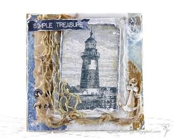 Simple Treasure Card , Birthday Card, Cards, Birthday, Handmade Card, Homemade Card, Card for Dad, Son
