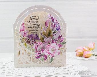 Birthday Card, Mother's Day Card, Cards, Birthday, Handmade Card, Homemade Card, Shaker Card, Card for Friend