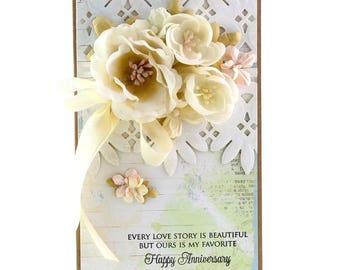 Love Story, Anniversary Card, Handmade Card, Homemade Card, Wedding Anniversary, Anniversary Cards, Cards, Handmade