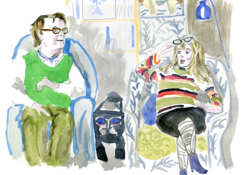 Nutty, Giles and Mary from Gogglebox greeting card