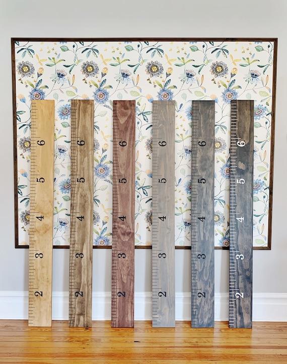 Hudson Edition Custom Engraved Wooden Ruler Growth Chart