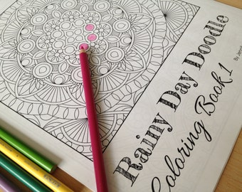 Geometric Coloring Book 1 - For Adults & Older Children - 12 Designs - By Jennifer Bishop