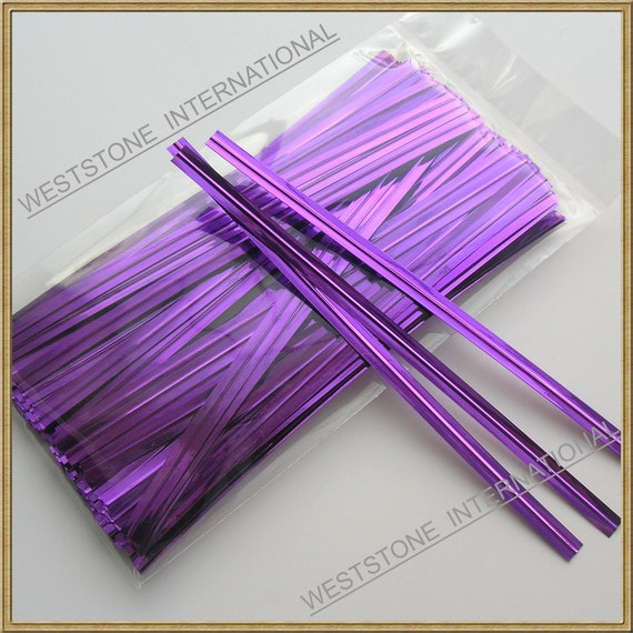 Weststone 2 100pcs 4 Paper Kraft Twist Ties for cello bags