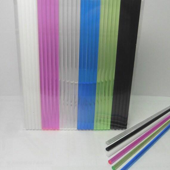 50pcs 4 X 5/32 Blue Bubble Acrylic Lollipop Sticks for Cake Pops Lollipop Candy Home Bakeware