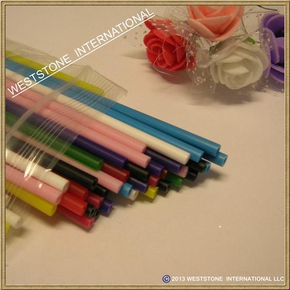 2000pcs Paper White 6 X 5//32+30pcs Colorful Stripy Lollipop Sticks for Cake Pops Lollipop Candy