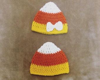 Baby Boy/Girl Candy Corn Crochet Beanie Hat