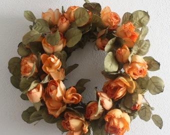 """Easter Wreath, Summer Wreath, Front Door Wreath, Silk Flower Wreath, Spring Wreath, Floral Wreath 30cm, 11.8 """""""