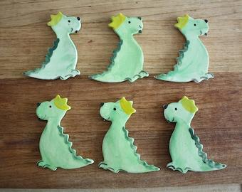 10 Cearmic dragons, dino, aimants de dinosaure, shower de bébé, cadeaux de fête d'anniversaire, cotillons, décoration enfants, aimant de réfrigérateur